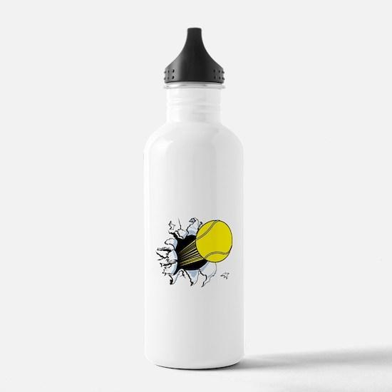 Tennis Ball Ripping Through Sports Water Bottle