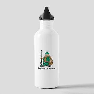 Reel Men Go Fishing Stainless Water Bottle 1.0L