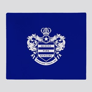Queens Park Rangers Crest Throw Blanket