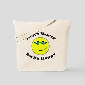Don't Worry Swim Happy Tote Bag
