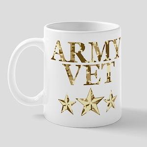 Army Vet 3 Star Camo Mug
