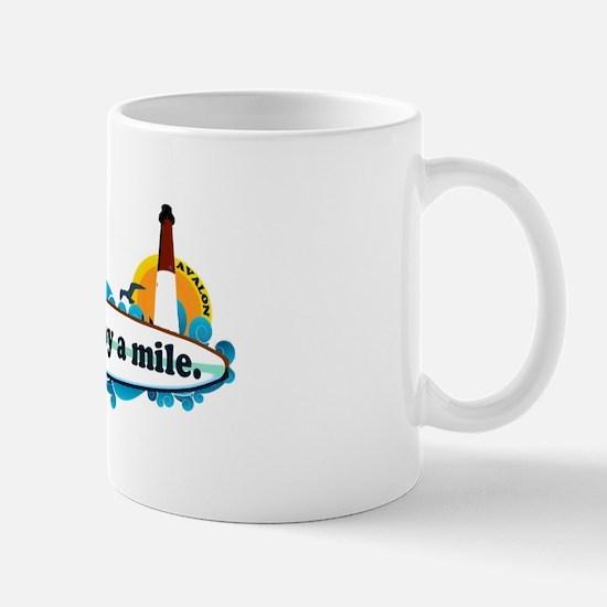 Avalon NJ - Surf Design Mug