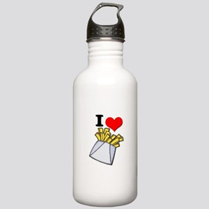 I Heart (love) French Fries Stainless Water Bottle