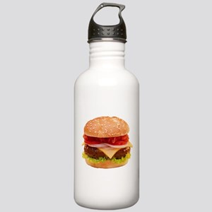 yummy cheeseburger photo Stainless Water Bottle 1.