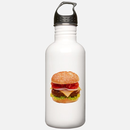 yummy cheeseburger photo Sports Water Bottle