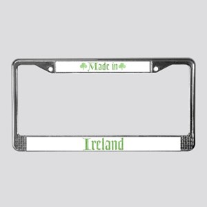 Made in Ireland License Plate Frame