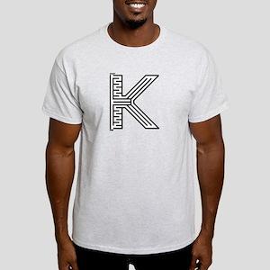 Letter K Maze Light T-Shirt