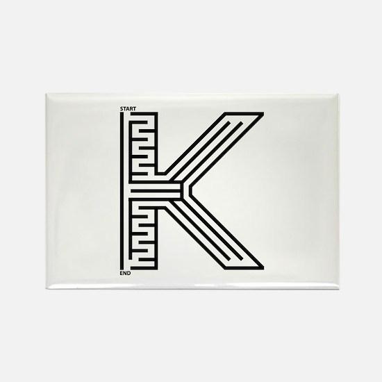 Letter K Maze Rectangle Magnet (100 pack)