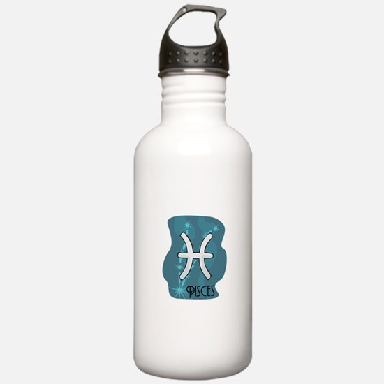 Pisces Symbol in the Stars Water Bottle