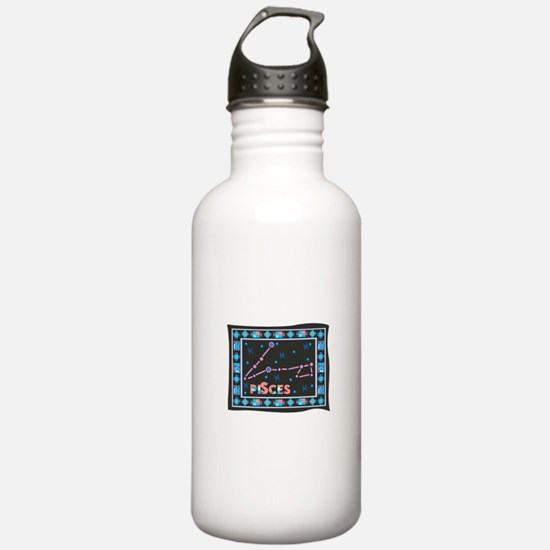 Pisces Constellation Tapestry Water Bottle