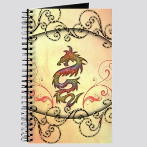 Beautiful chinese dragon with floral elements Jour