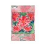 Watercolor Flowers Rectangle Magnet