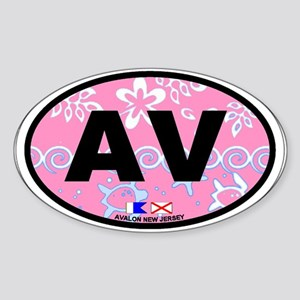 Avalon NJ - Oval Design Sticker (Oval)