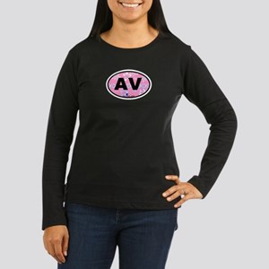 Avalon NJ - Oval Design Women's Long Sleeve Dark T