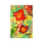 Autumn Wind Watercolor Rectangle Magnet