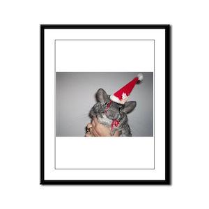 Holiday Chinchilla Framed Panel Print