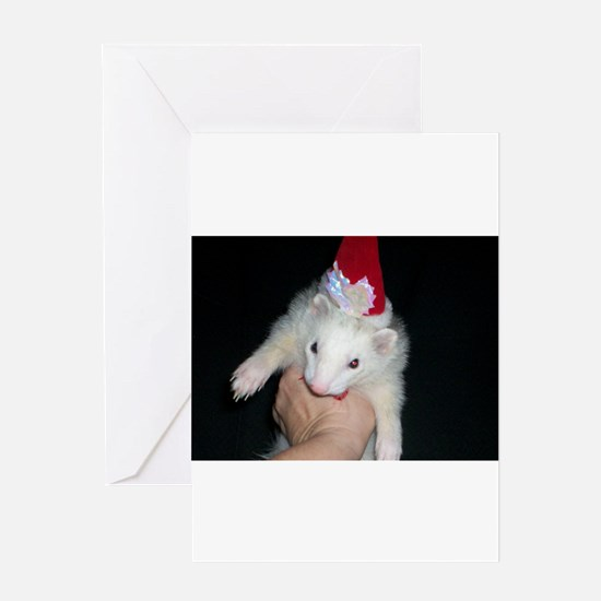 Holiday Ferret Greeting Card