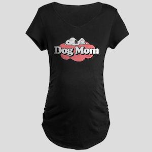 Snoopy Dog Mom Maternity Dark T-Shirt