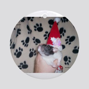Holiday Ratty Ornament (Round)
