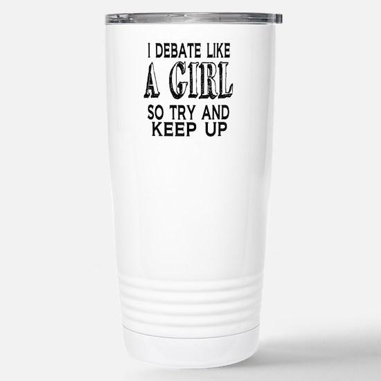 Cute Debating Travel Mug