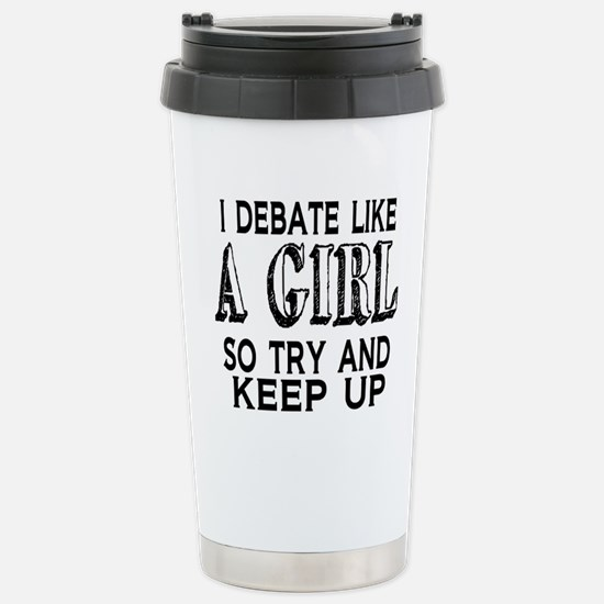 Cute Debate Travel Mug
