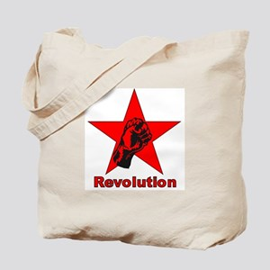Commie Revolution Star Fist Tote Bag