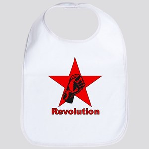 Commie Revolution Star Fist Bib