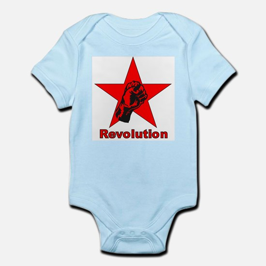 Commie Revolution Star Fist Infant Creeper