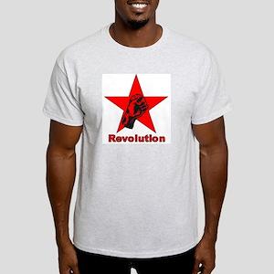 Commie Revolution Star Fist Ash Grey T-Shirt