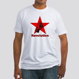 Commie Revolution Star Fist Fitted T-Shirt