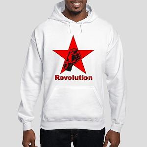 Commie Revolution Star Fist Hooded Sweatshirt