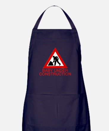 BABY UNDER CONSTRUCTION Apron (dark)