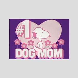 #1 Dog Mom Rectangle Magnet