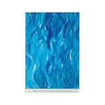 Water Waveforms (Blue) Rectangle Magnet