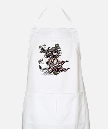 Snoopy World's Best Dog Mom Light Apron