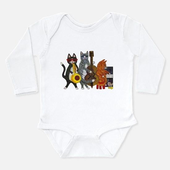 Jazz Cats Long Sleeve Infant Bodysuit