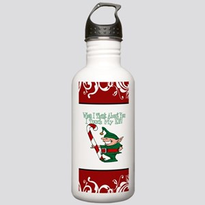 Naughty Elf Stainless Water Bottle 1.0L