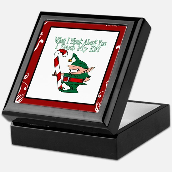 Naughty Elf Keepsake Box