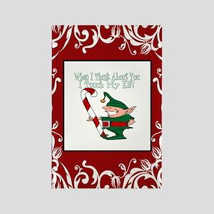 Naughty Elf Rectangle Magnet