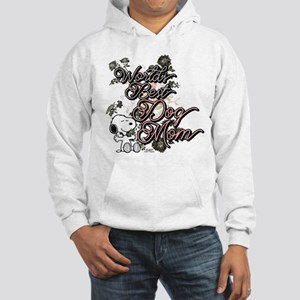 Snoopy World's Best Dog Mom Hooded Sweatshirt