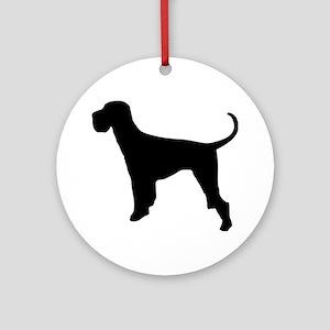 Dog Giant Schnauzer Ornament (Round)