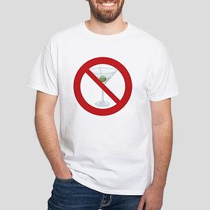 "Sober Living T-Shirt, White: ""No Hard Liquor"""
