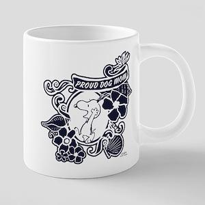Snoopy Proud Dog Mom 20 oz Ceramic Mega Mug