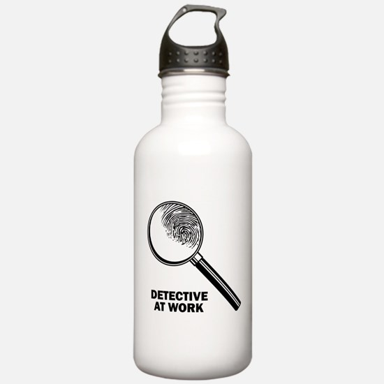 Detective At Work Water Bottle