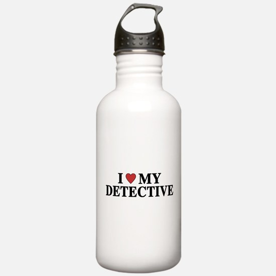 I Love My Detective Water Bottle