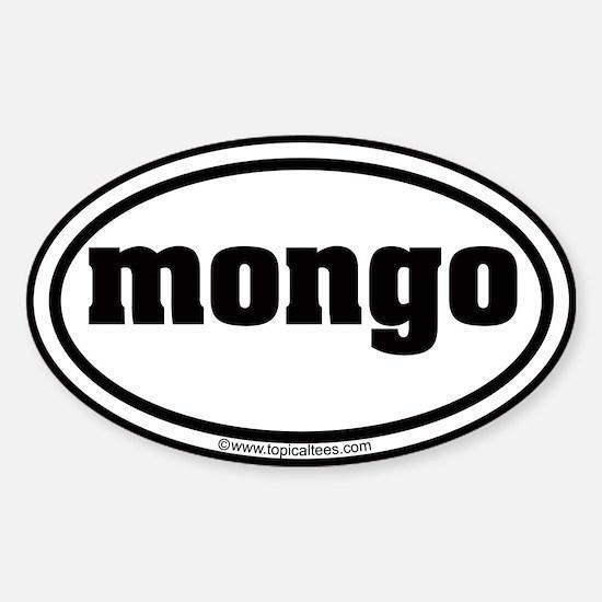 Mongo Sticker (Oval): mongo