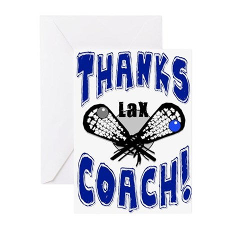 Thanks Coach! Lacrosse Greeting Cards