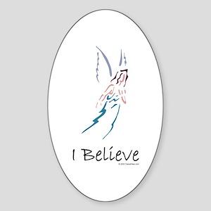 Angels/I believe Sticker (Oval)