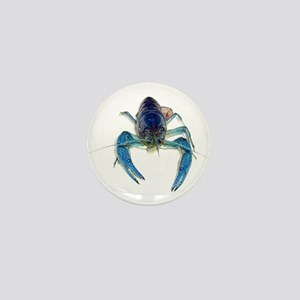 Blue Crayfish Mini Button