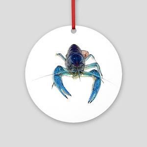 Blue Crayfish Ornament (Round)